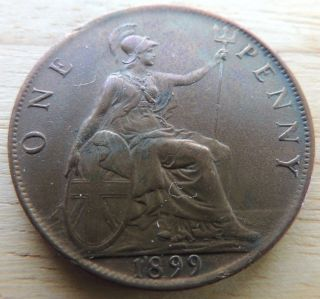 Great Britian 1899 1 Penny photo