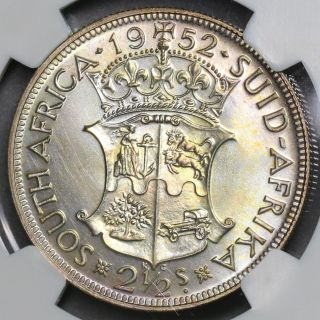1952 Ngc Pf 66 South Africa Bu Proof Silver 2 1/2 Shillings Coin (16090403c) photo