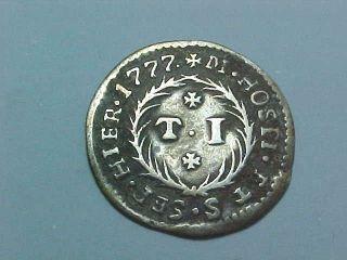 1777 Silver 1 Tari Coin Grand Master De Rohan Knights Of Malta Order Of St John photo