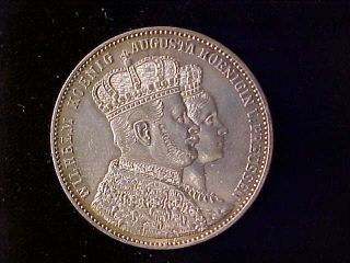 Prussia Coronation Thaler 1861 Ef, photo