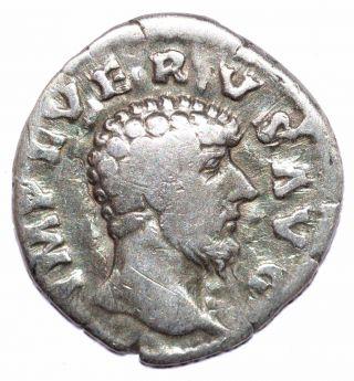 Authentic Lucius Verus - Roman Coin,  Ar Silver Denarius - Rv.  Providentia - A491 photo