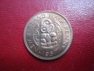 Zealand Half Penny Bu 1957 photo