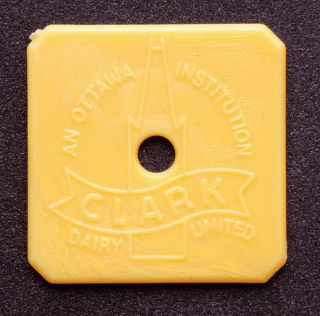Ottawa,  Carleton,  Ontario: Clark Dairy Ltd. ,  3/4 Gallon Guernsey Dairy Token photo