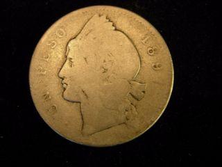 1897 Dominican Republic 1 Peso Silver Coin photo
