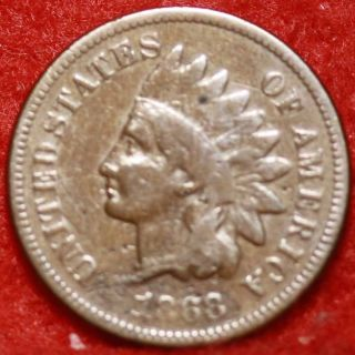 1868 Philadelphia Copper Indian Head Cent photo