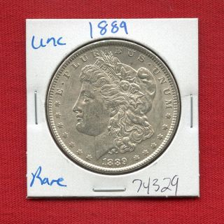 1889 Morgan Us Silver Dollar 74329 Brilliant Uncirculated Ms,  State Estate photo