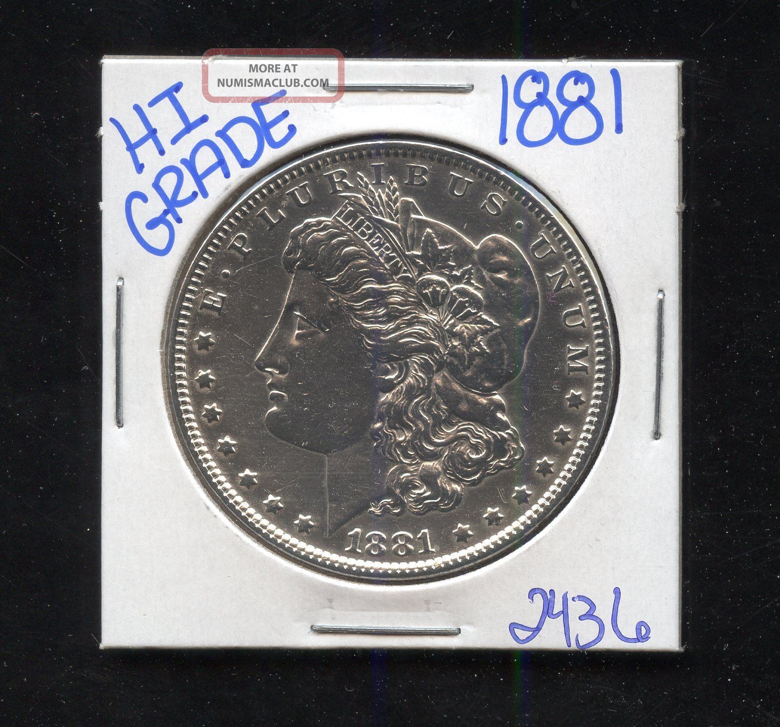 1881 Silver Morgan Dollar Coin 2436 Shipping/rare Estate/high Grade Dollars photo