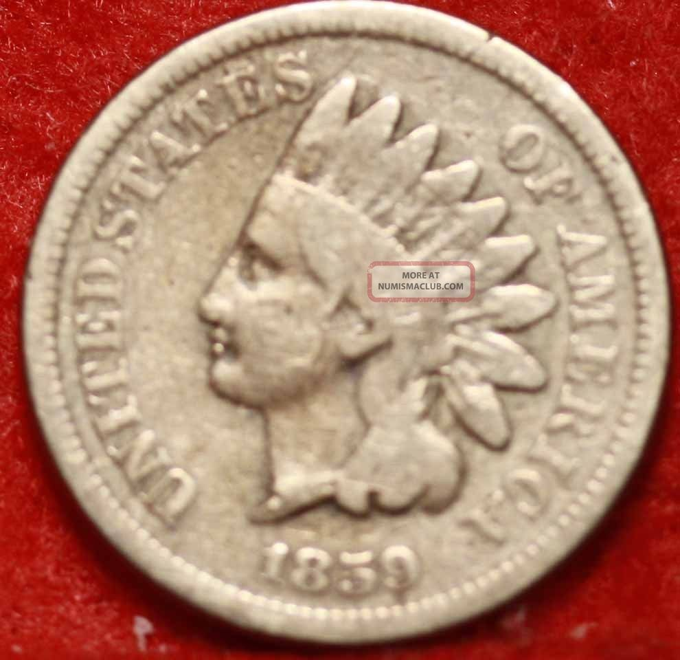 1859 Philadelphia Copper - Nickel Indian Head Cent S/h Small Cents photo