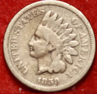 1859 Philadelphia Copper - Nickel Indian Head Cent S/h photo