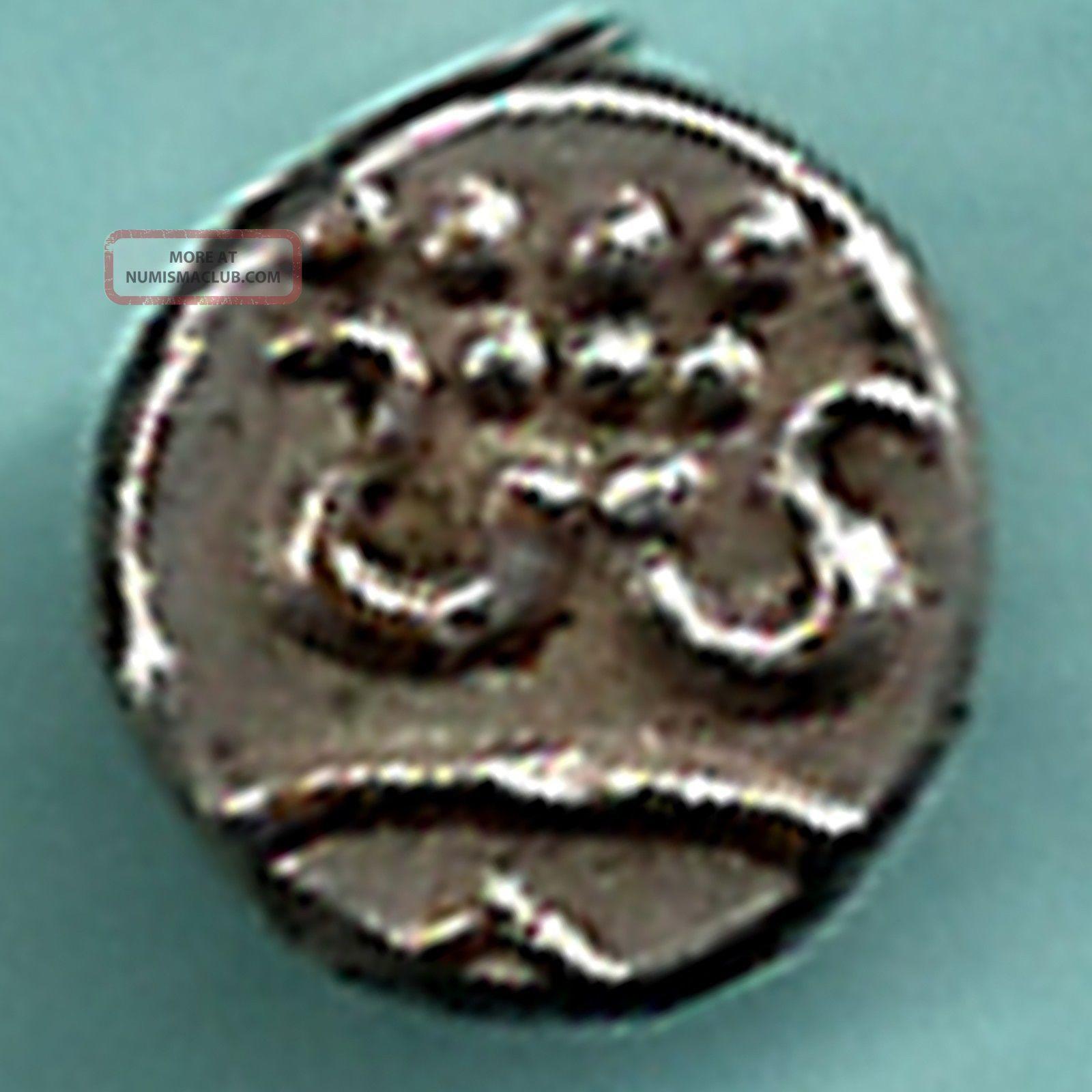 Travancore State - Silver Small Fanams - Rarest Silver Coin Very Small India photo