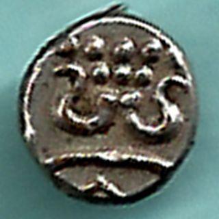 Travancore State - Silver Small Fanams - Rarest Silver Coin Very Small photo