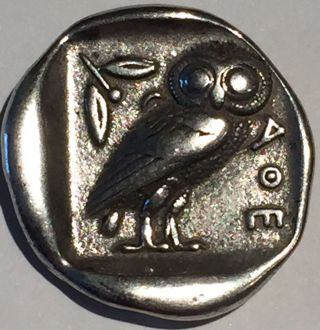 Attica Athens Tetradrachm Around 300 Bc Ancient Silver Coin Owl & Athena photo