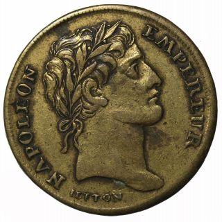 France Dated 1804 Napoleon I Bonaparte Jeton Token Medal By Lauer photo