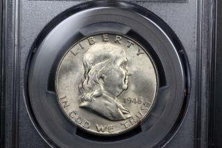 1948 - D Franklin Silver 50c Ms 63 Pcgs 82495135 photo