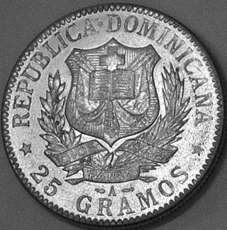 Dominican Republic 1897 - A 1 Peso Type Iii - - - Incredible Coin At Bargain Price - - - photo