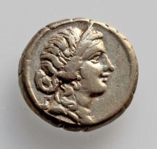 Roman Republic - Julius Caesar Ar Denarius (north Africa 47 - 46 Bc) - Exceptional photo