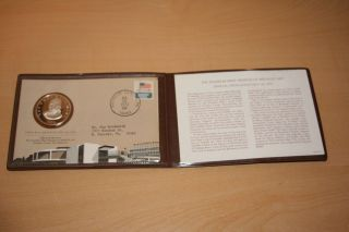 Franklin Museum Of Medallic Art Sterling Silver Coin & Stamp.  1st Day Issue photo