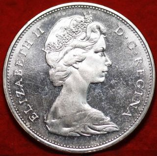 Uncirculated 1965 Silver Canada $1 Dollar Foreign Coin S/h photo