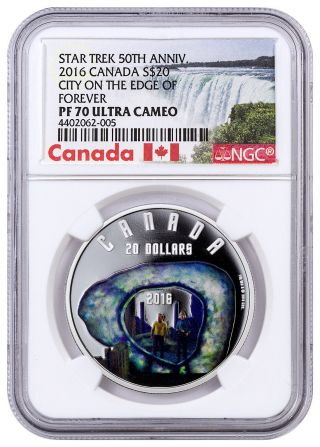 2016 Canada 1oz Proof Silver Star Trek City On Edge Of Forever Ngc Pf70 Sku43087 photo