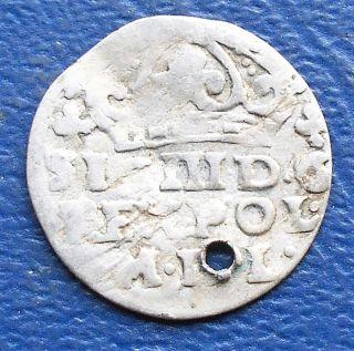 Scarce Silver 1587 - 1632 Poland 1 Groschen Sigismund Iii Circulated Msb192 photo