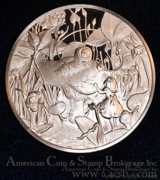 1976 Franklin Alice In Wonderland Bu 50mm Bronze Sculptor Studio Medal photo