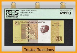 Tt Pk 152 2012 Angola 50 Kwanzas Pcgs 69 Ppq Top Population photo