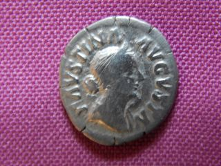 Faustina Ii,  Rome,  Ar Denarius,  170 - 175 Ad,  2 Children,  Ric 710 photo