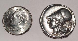 Greek Corinthia Pegasos Athena Ancient Coin - Around 300 Bc (likely Silver) photo