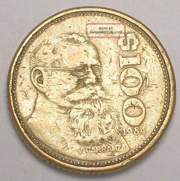 1984 mexico 100 peso coin