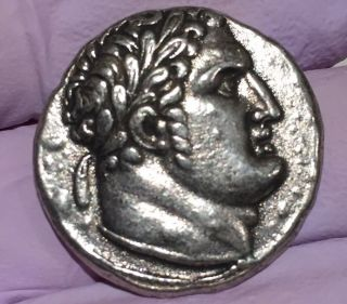 Ancient Greek Roman Coin Phoenicia Sidon Silver Tetradrachm Bc (unknown) photo
