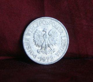 Poland 20 Groszy 1972 World Coin Ya47 Polska Eagle Wings Open Polish Europe photo
