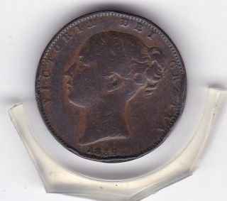 Early Queen Victoria 1839 Farthing (1/4d) British Coin photo