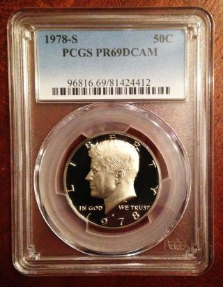 1978 S 50c Kennedy Half Dollar Proof Pcgs Pr69dcam photo