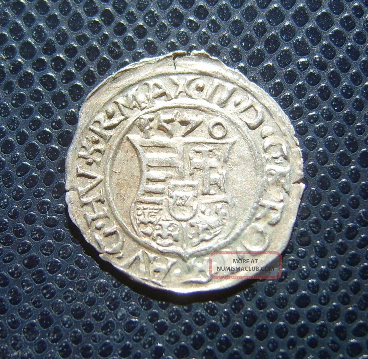 Hungary / Maximilian Ii.  - Miksa / Silver Denar / 1570 K - B Europe photo