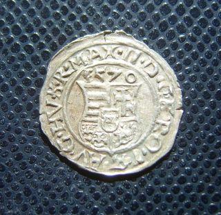 Hungary / Maximilian Ii.  - Miksa / Silver Denar / 1570 K - B photo