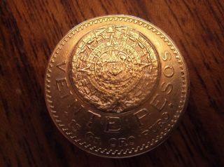 Mexico 1919 Veinte 20 Pesos Gold photo