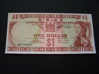 Fiji.  One Dollar.  P - 63a.  (1971).  Unc. photo