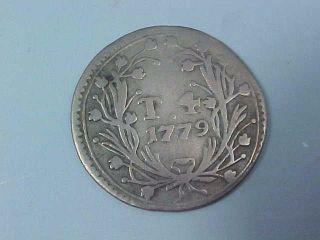 1779 Silver 4 Tari Coin Grand Master De Rohan Knights Of Malta Order Of St John photo