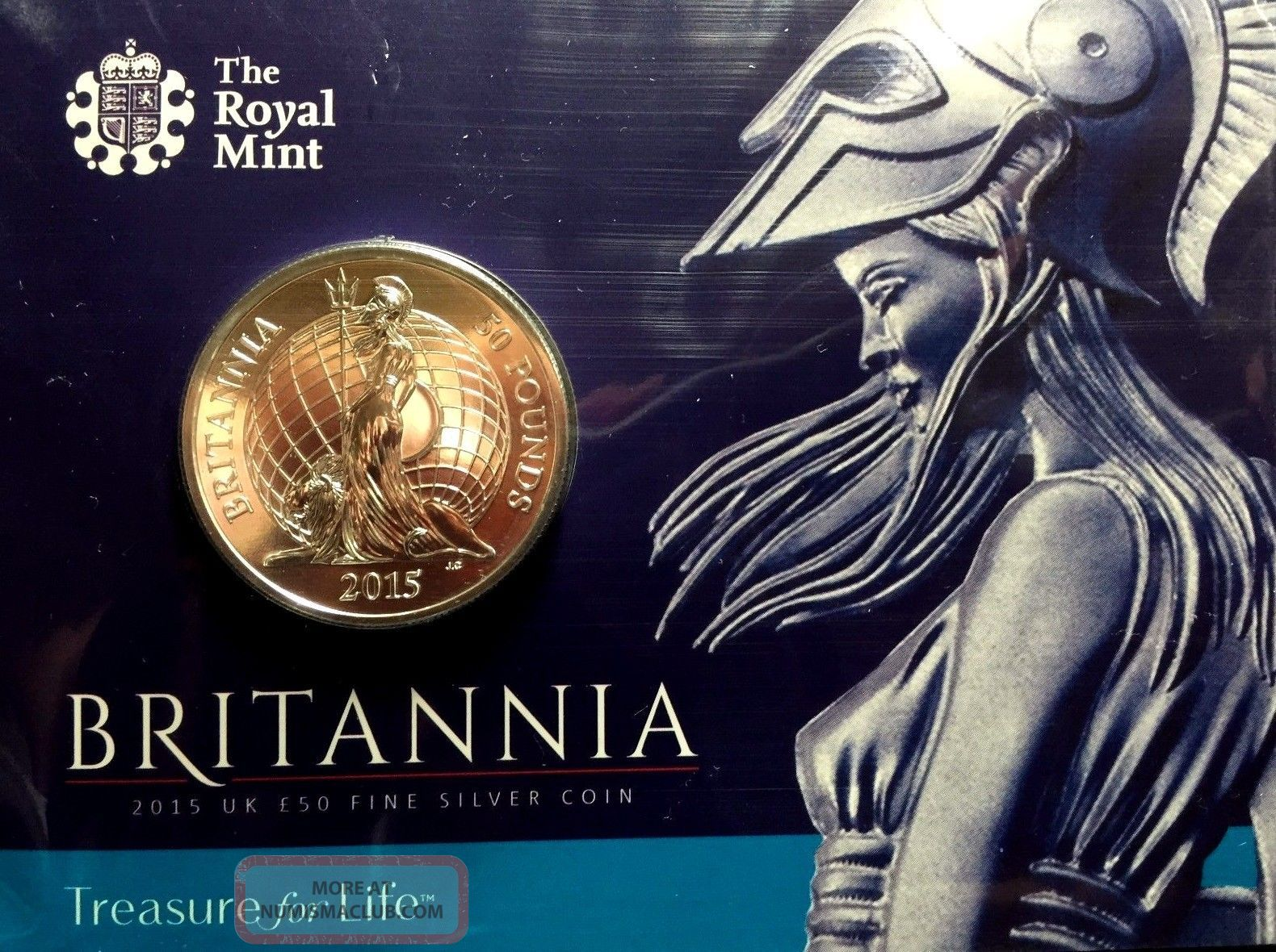 2015 Great Britain 50 Pounds 1 Oz Silver Britannia
