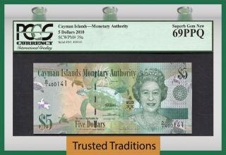 Tt Pk 39a 2010 Cayman Islands 5 Dollars