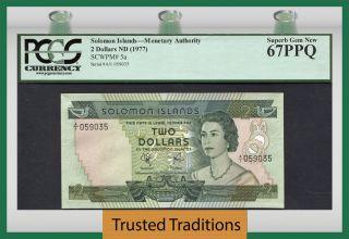 Tt Pk 5a 1977 Solomon Islands 2 Dollars