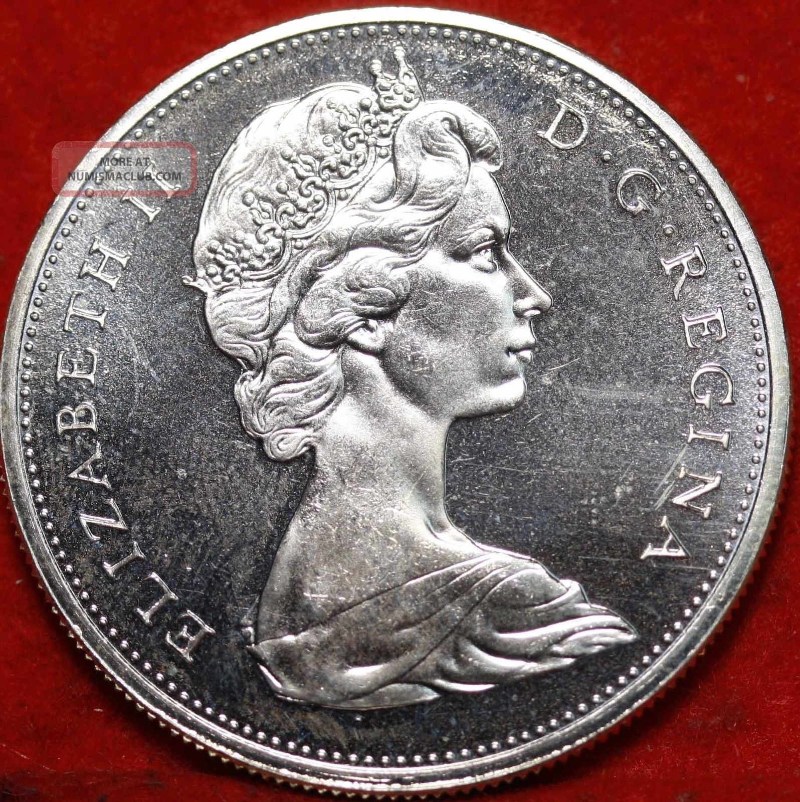 Uncirculated 1965 Canada 1 Silver Foreign Coin S H