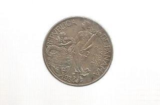 Ncoffin Republica De Panama 1934 Balboa.  900 Fine Silver Coin photo