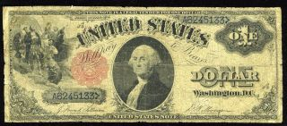 1880 $1 Fr - 35 Legal Tender Note - - - Low Grade photo