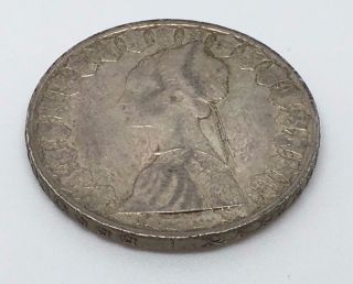 1959 Italy Silver 500 Lire Coin photo