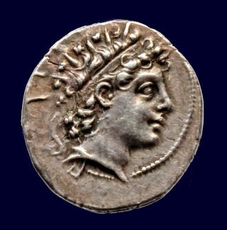 Lt // Greek - Antiochus Vi Dionysus Ar Drachm (antioch.  143 - 142) - Exceptional photo