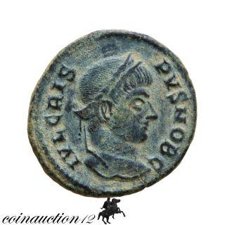 Roman Coin Ae 3 Follis Crispus Caesar,  Caesarum Nostrorum Vot X Siscia 322 Ad photo