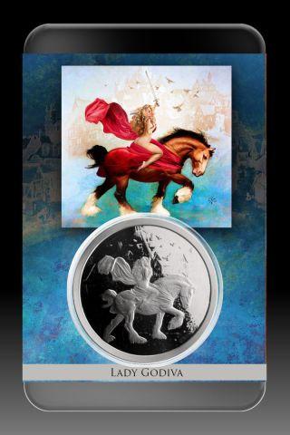 Lady Godiva 1 Oz Silver Proof - Steve Ferris Number 0064 Of 2500 photo