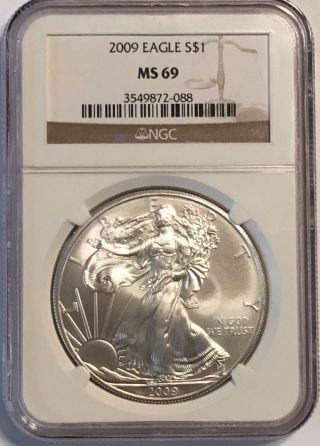 2009 American Silver Eagle Ngc Ms69 photo