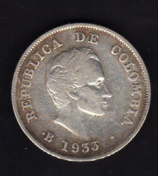 Colombia 20 Centavos 1933,  Silver photo